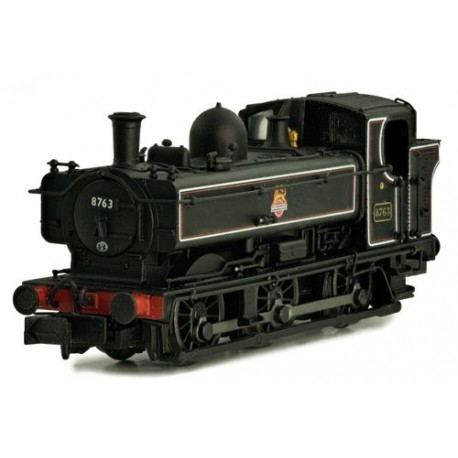 ** Dapol 2S-007-018 Pannier 8763 BR Lined Black Early Crest Later Cab