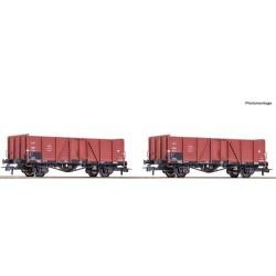 ** Roco 76104 PKP Open Wagon Set (2) III