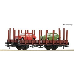 ** Roco 76764 PKP Stake Wagon with Fiat 127 Load IV
