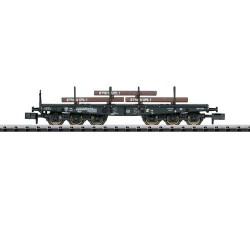 ** Minitrix 15453 DB Sa705 Heavy Duty Flat Wagon with Steel Slab Load IV