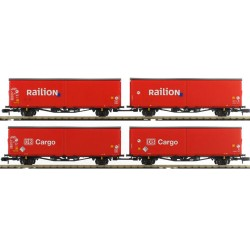 ** Minitrix 15544 DB Cargo/Railion Hirrs-tt325 Wagon Set (4) V