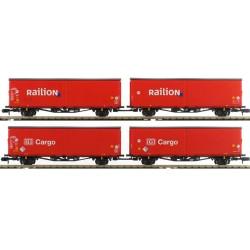 ** Minitrix 15544 DB Cargo/Railion Hirrs-tt325 Wagon Set (4) V