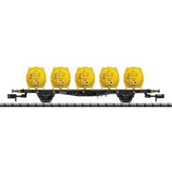 ** Minitrix 15740 DB Flat Wagon with Round Witco Container Load V