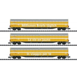 ** Minitrix 15799 SBB Habbiillnss Swiss Post Wagon Set (3) VI