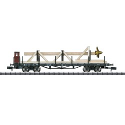 ** Minitrix 15928 DB SSw07 Heavy Duty Flat Wagon w/Ship Propeller Load III