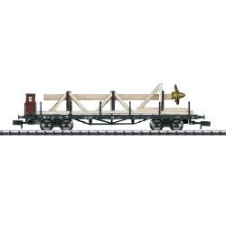 ** Minitrix 15928 DB SSw07 Heavy Duty Flat Wagon w/Ship Propeller Load III