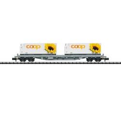 ** Minitrix 15937 SBB Cargo Rs Coop Container Wagon VI