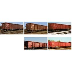 ** Minitrix 15993 DBAG Eanos Scrap Transport Wagon Set (5) VI