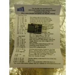 ** Bachmann 36-568A 36-568A 6 Pin DCC Loco Decoder w/Back EMF featuring Railcom