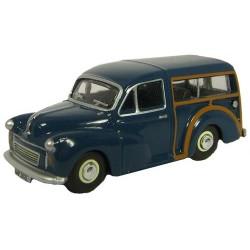 ** Oxford Diecast 76MMT002 Morris Minor Traveller Trafalgar Blue