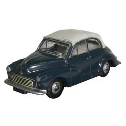 ** Oxford Diecast 76MMC004 Morris Minor Convertible Closed Blue/Grey
