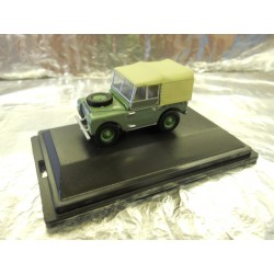 ** Oxford Diecast 76LAN180001 Land Rover Series I 80'' Sage Green (HUE)