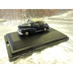 ** Oxford Diecast 76MMC004 Morris Minor Convertible Closed Blue/Grey