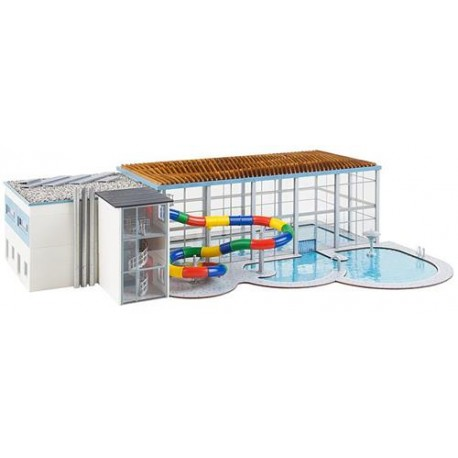 ** Faller 130150 Municipal Indoor Swimming Pool with Waterslides Kit V