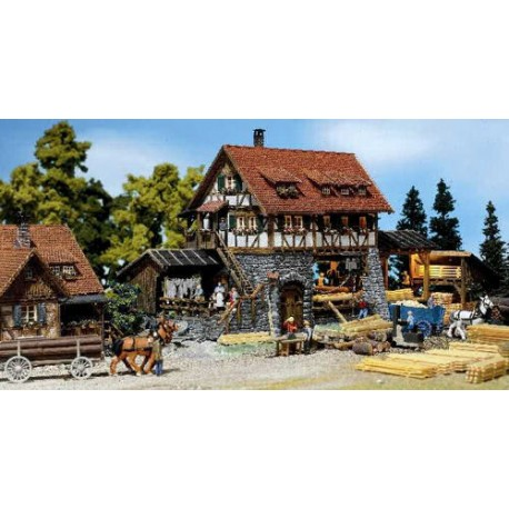 ** Faller 130229 Black Forest Sawmill Kit with Motor II