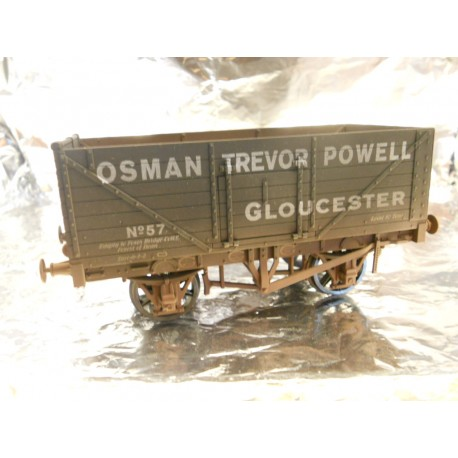 ** Dapol 7F-071-021W Weathered 7 Plank Wagon Osman Trevor Powell 57