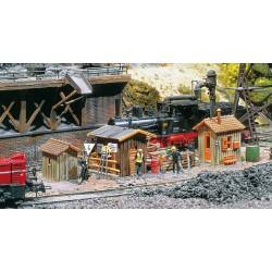 ** Faller 222177 Trackside Huts (3) Kit II