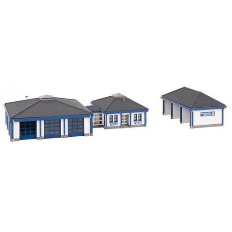 ** Faller 222222 THW Building with Garage Kit