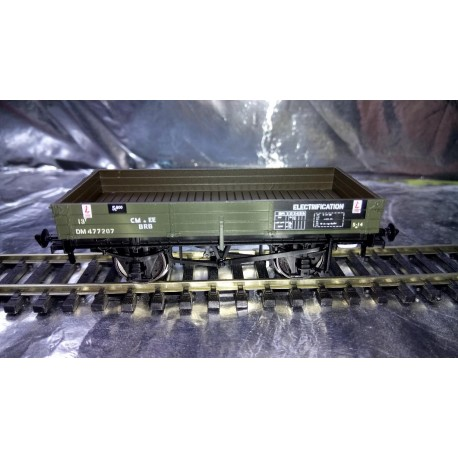 ** Bachmann Branchline 37-931 3 Plank Wagon BR Departmental Olive Green