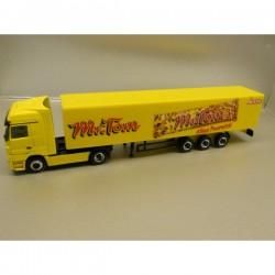 "** Herpa 451253 Mercedes Benz Actros LH Box Semitrailer ""Mr. Tom"""