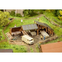 ** Faller 232373 Timber Storage Sheds Kit (2) I