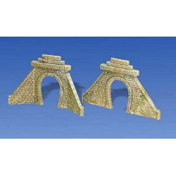 ** Faller 272575 Single Track Stone Tunnel Portals (2) I