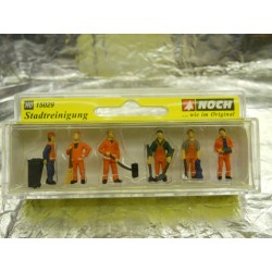 ** Noch 15029 City Cleaners (6) and Accessories Figure Set