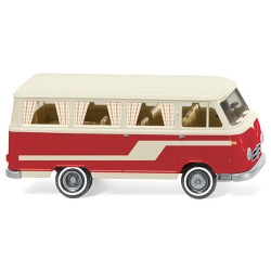 ** Wiking 027045 Borgward B611 Camper Van White/Red