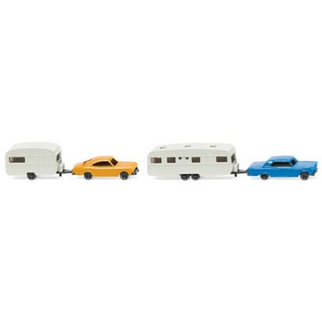 ** Wiking 092209 Car & Caravan Set (2)