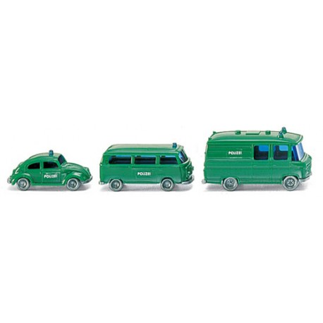 ** Wiking 093500 Police Emergency Car Set