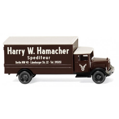 ** Wiking 094407 MB L 2500 Box Van Harry W Hamacher Spedition