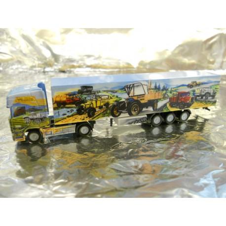 ** Herpa 066167 Scania R TL Box Semitrailer Herpa Weltgeschichte Nr. 8
