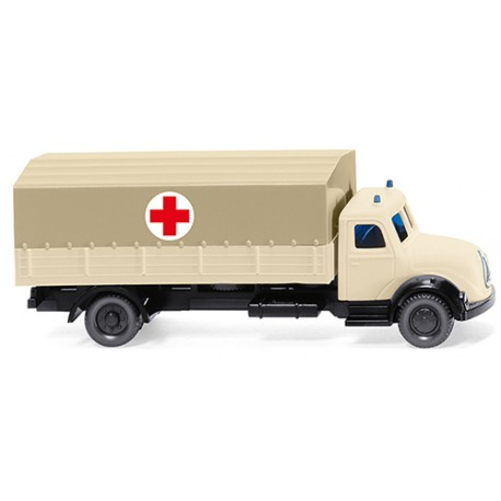 ** Wiking 094904 Magirus Flatbed Lorry German Red Cross