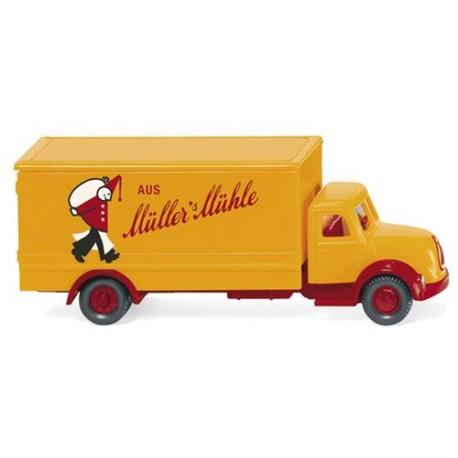 ** Wiking 094905 Magirus Box Truck Mullers Muhle