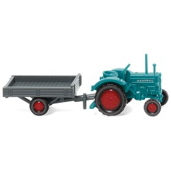 ** Wiking 095304 Hanomag R16 with Trailer Blue/Grey
