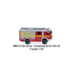 ** Wiking 096303 Rosenbauer RLFA 2000 AT Fire Engine