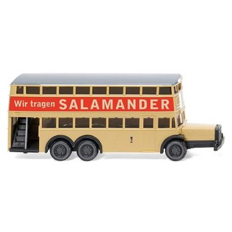** Wiking 097303 Berlin Double Decker Bus D38 Salamander