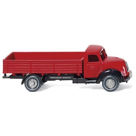 ** Wiking 042601 Magirus Sirius Flatbed Truck Red