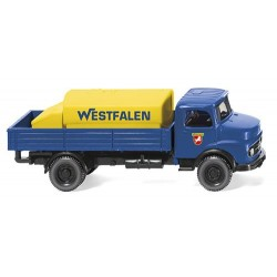 ** Wiking 043801 MB Westfalen Flatbed Lorry with Mountable Tank