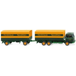 ** Wiking 045601 MB 2223 Flatbed Road Train Sped.Denkhaus