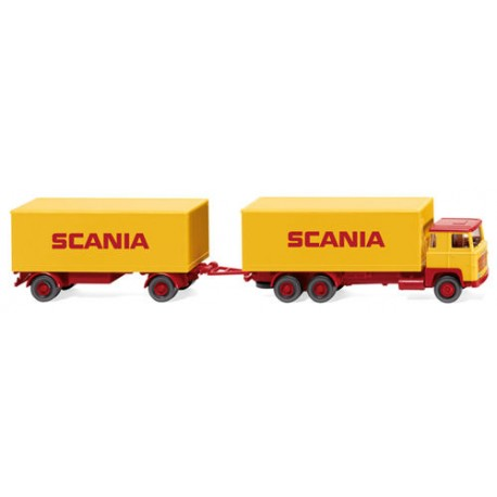 ** Wiking 045702 Scania 111 Box Trailer Road Train