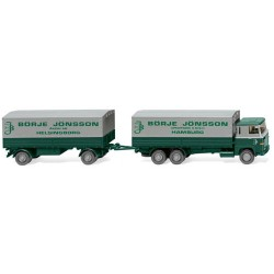 ** Wiking 046001 Scania 111 Flatbed Road Train Borje Jonsson