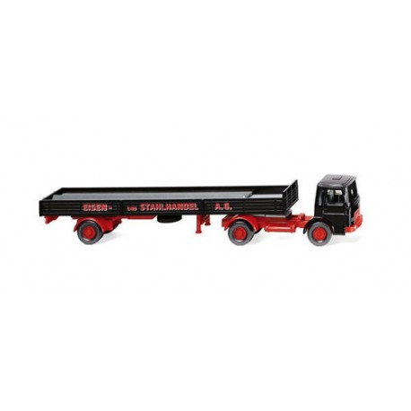 ** Wiking 048803 MAN Flatbed Tractor/Trailer Eisen und Stahlhandel AG