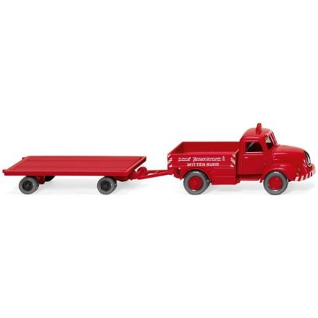 ** Wiking 049202 Magirus S 3500 Heavy Duty Truck w/Trailer Rosenkranz