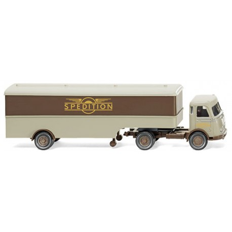 ** Wiking 051320 MB Pullman Box Semi Trailer Spedition im Flugelrad