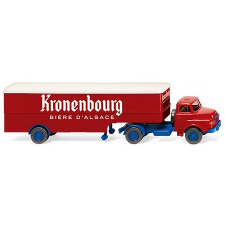 ** Wiking 051322 Saviem Box Semitrailer Kronenbourg