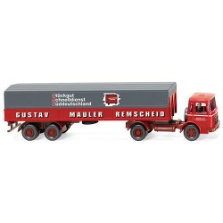 ** Wiking 051502 MAN Flatbed Tractor-Trailer Mauler