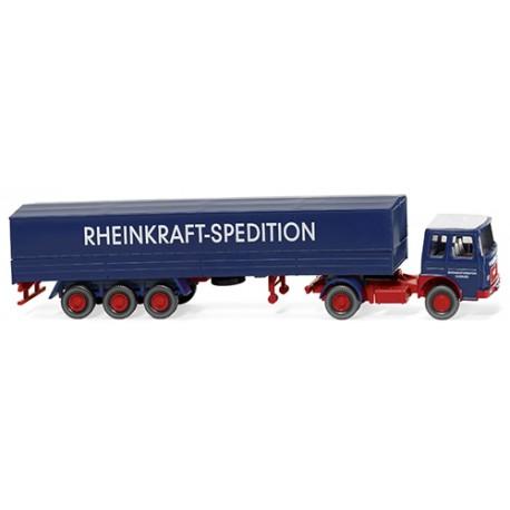 ** Wiking 051701 MAN Flatbed Tractor Trailer Rheinkraft Spedition