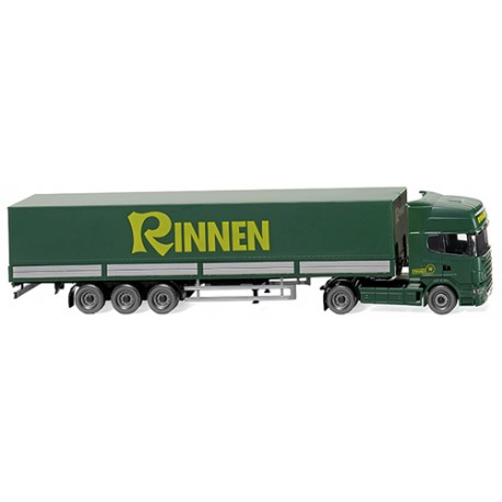 ** Wiking 051804 Scania R 420 Topline Flatbed Tractor Trailer Rinnen