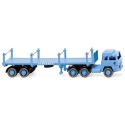 ** Wiking 051846 Magirus 235D Stanchion Trailer Truck Klockner